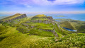Panoramic view of Quiraing coastline in Scottish highlands - PhotoDune Item for Sale