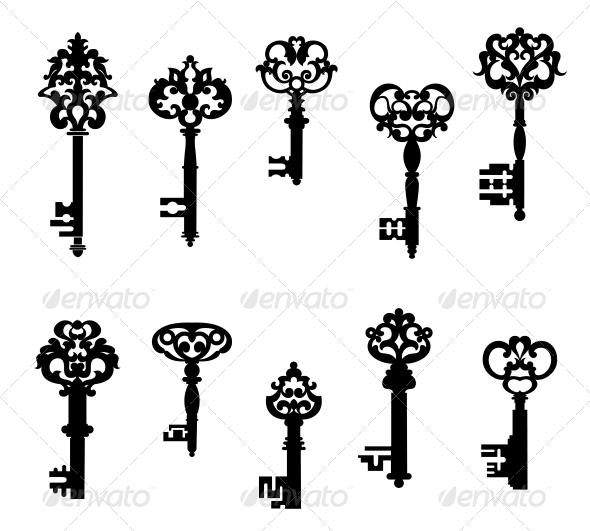 GraphicRiver Antique Keys Set 6254754