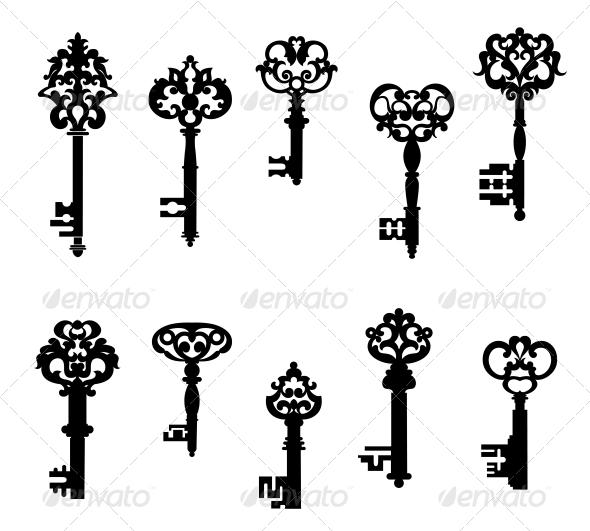 GraphicRiver Antique Keys Set 6254754