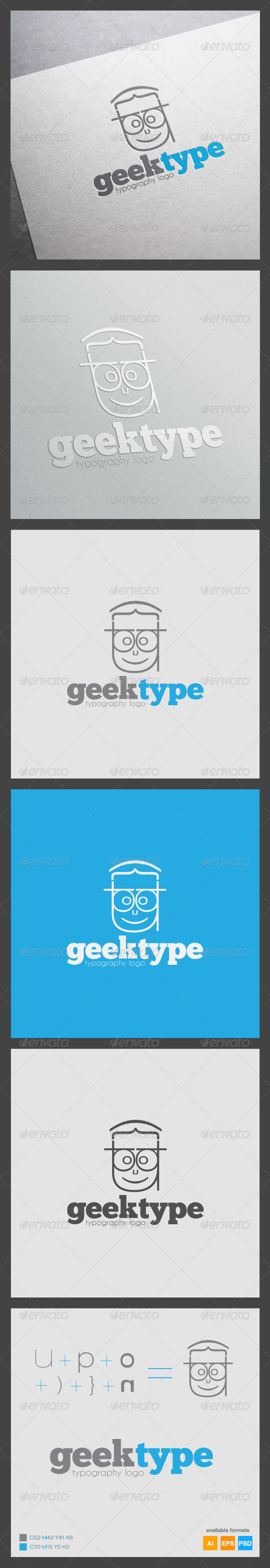 GraphicRiver Geek Type Logo Template 6254885