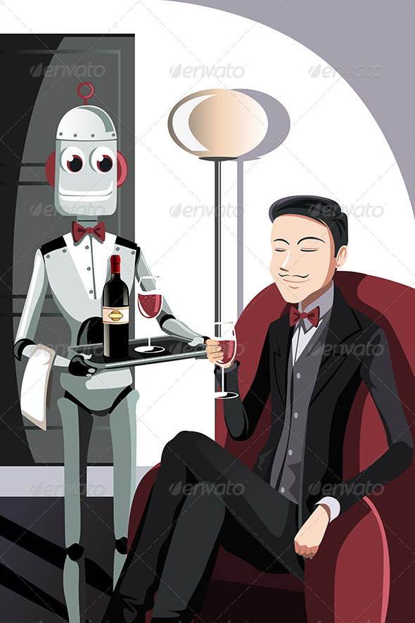 GraphicRiver Man and Robot 6255008