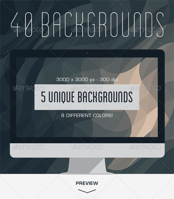 GraphicRiver 40 Geometric Backgrounds 6255010