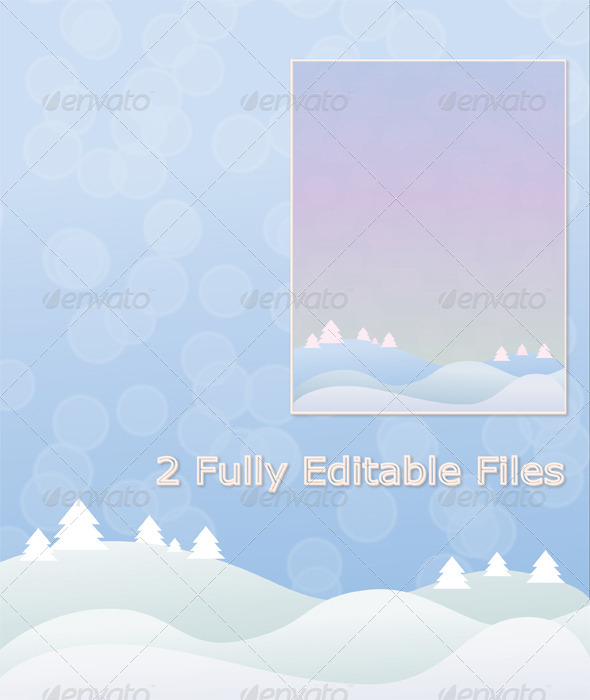 GraphicRiver Blue and Purple Winter Background Vector 6204399