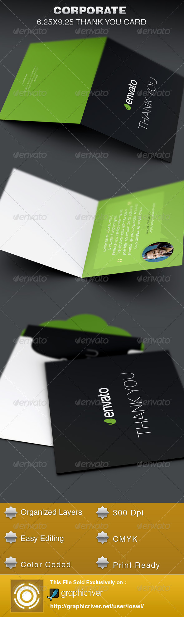 GraphicRiver Corporate Thank You Card Template 6255448