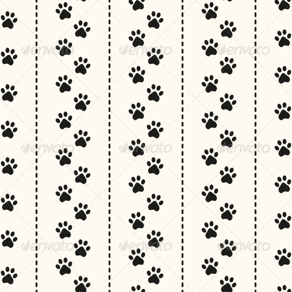GraphicRiver Seamless Animal Pattern of Paw Footprint 6255488