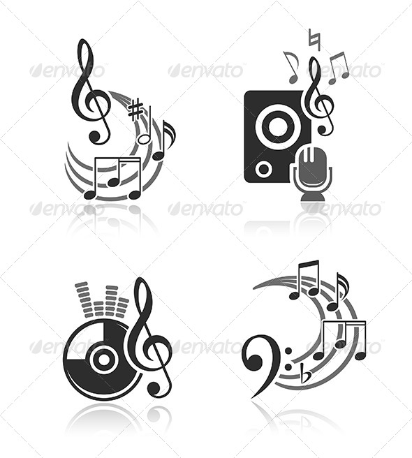 GraphicRiver Music Vector Elements Set 6255564