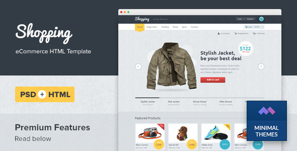 Shopping eCommerce HTML Template - Shopping Retail