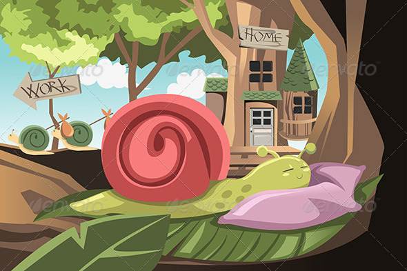 GraphicRiver Lazy Snail 6255856