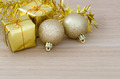 Gold Christmas bauble and Two Present Boxes - PhotoDune Item for Sale