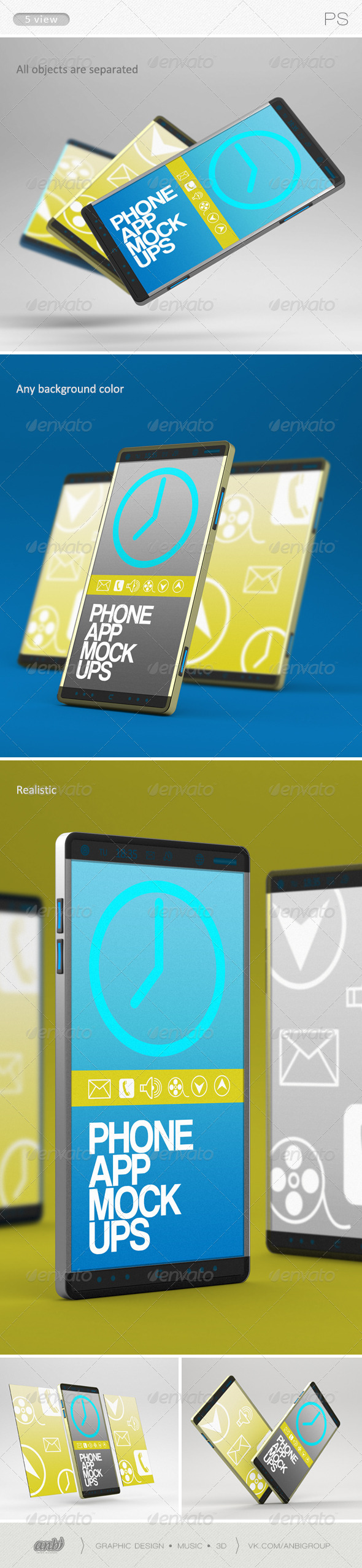 GraphicRiver Phone App Mock-Ups 6256400