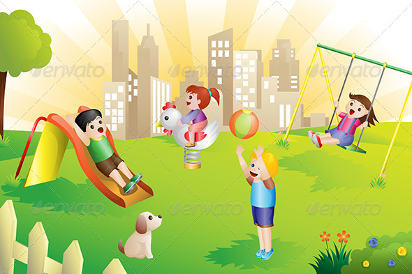 GraphicRiver Kids on the Playground 6256675