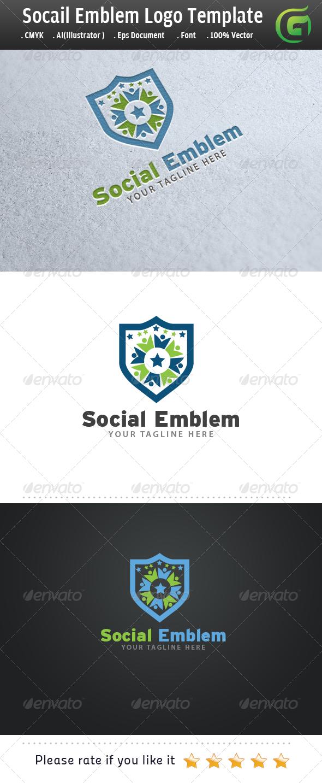 GraphicRiver Social Emblem 6256891