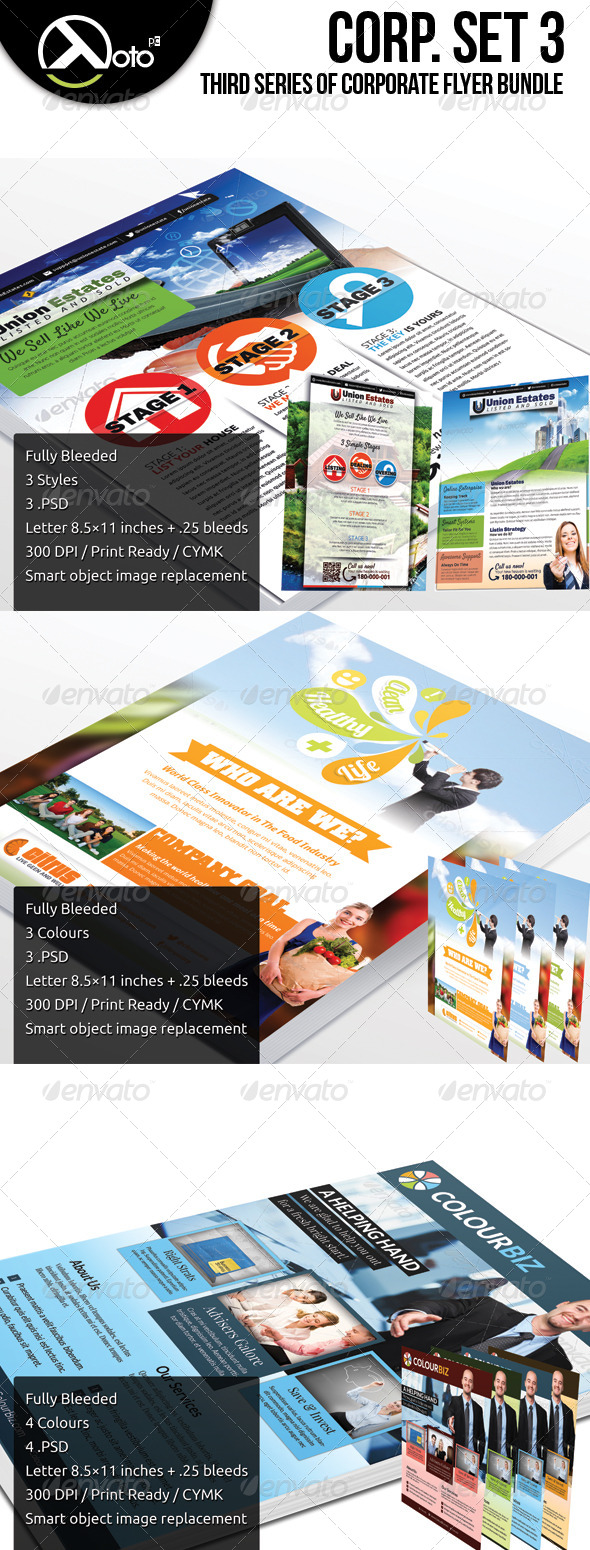 GraphicRiver Corporate Flyer Bundle Set 3 6257020