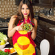 Beautiful woman serving home made salad   - PhotoDune Item for Sale