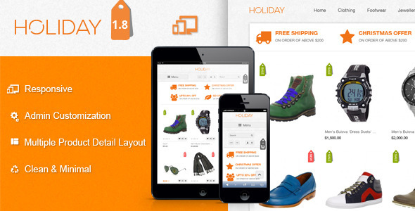 HOLIDAY : Premium Business Magento Theme - Magento eCommerce
