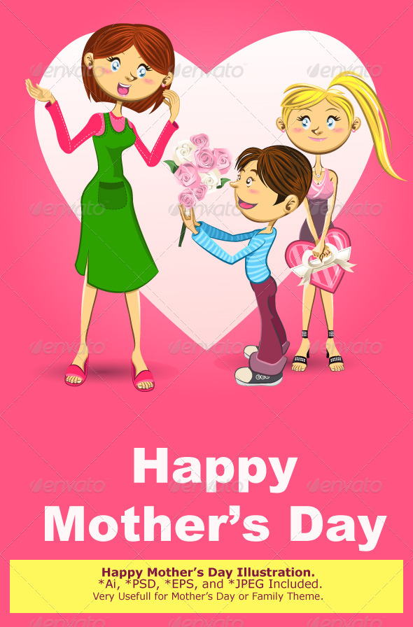 GraphicRiver Happy Mother's Day Illustration 6259894