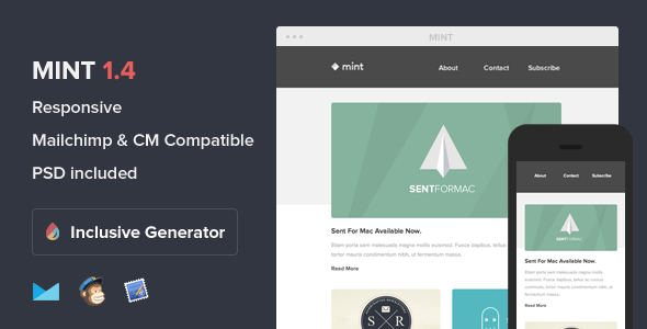 Mint - Responsive E-mail With Template Builder