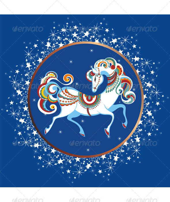 GraphicRiver Year of the Blue Horse 6260430