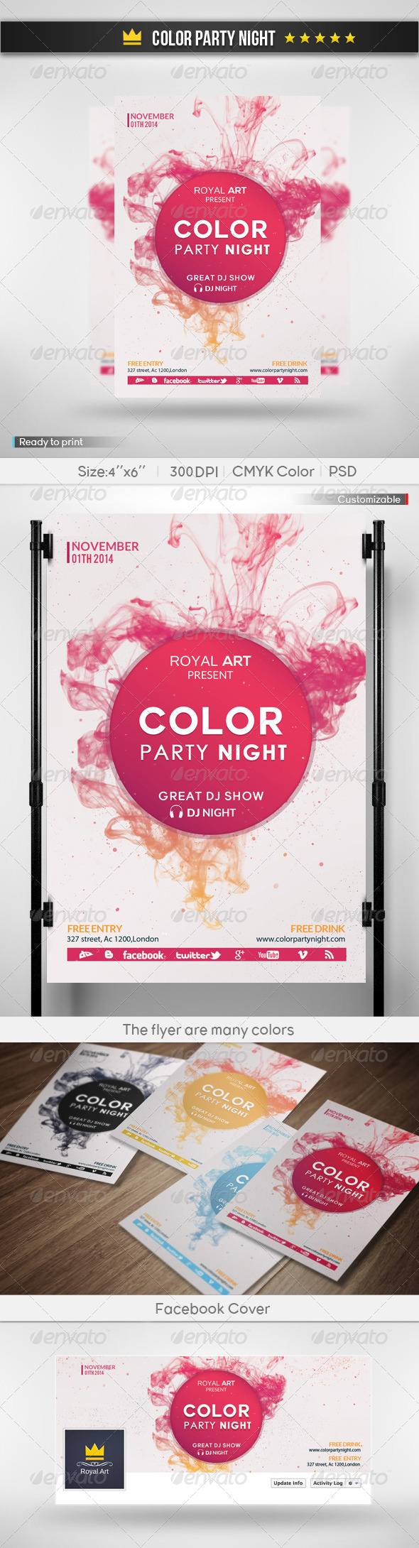 GraphicRiver Color Party Night 6219906