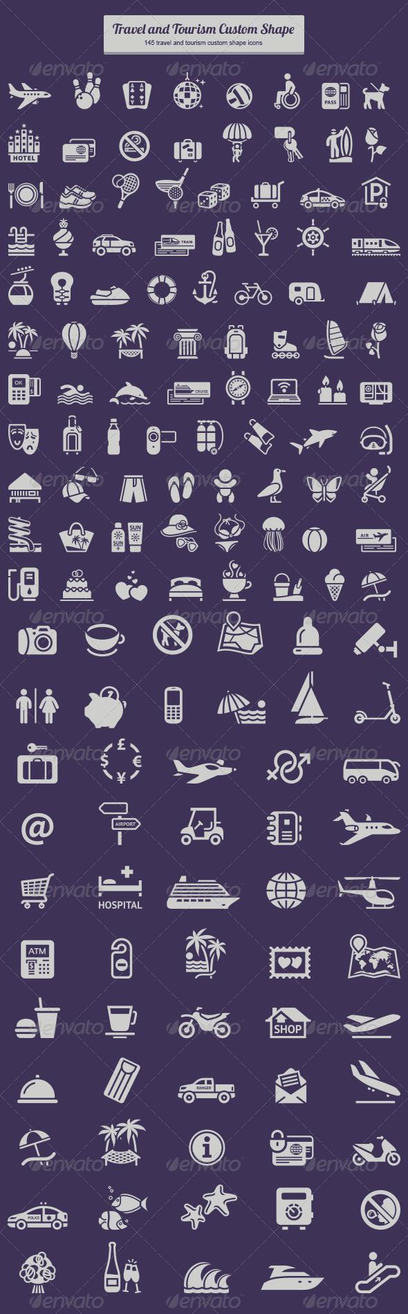 GraphicRiver Travel and Tourism Custom Shape 6261811