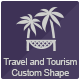 Travel and Tourism Custom Shape - GraphicRiver Item for Sale
