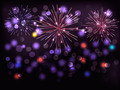 Holiday background with colorful fireworks. Happy New Year!  - PhotoDune Item for Sale