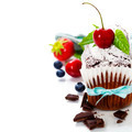 chocolate cake with fresh berry - PhotoDune Item for Sale