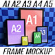 A1, A2, A3, A4, A5, Portrait Frames Mockup - GraphicRiver Item for Sale
