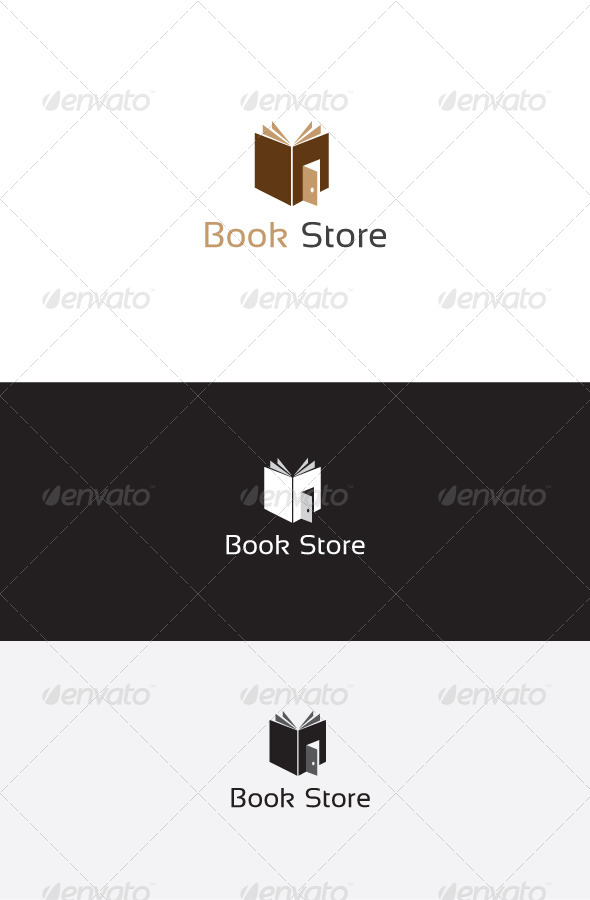 GraphicRiver Book Store Logo Template 6262611