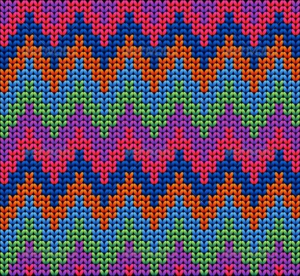 GraphicRiver Color Knitted Wool Pattern Background 6263297