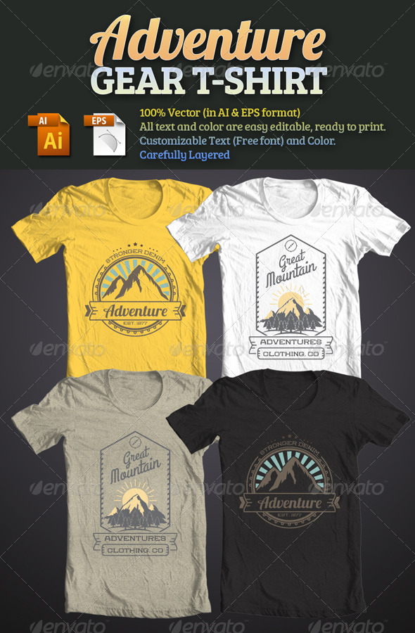 GraphicRiver Adventure Gear T-Shirt 6263680