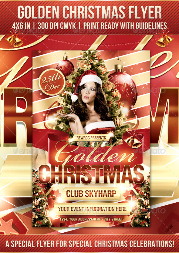 Flyer Navideño Golden