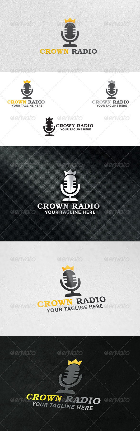 GraphicRiver Crown Radio Logo Template 6263977
