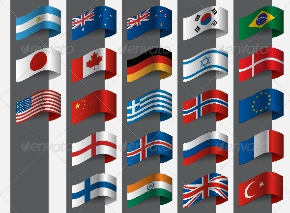 GraphicRiver Collection of Flags 6258261