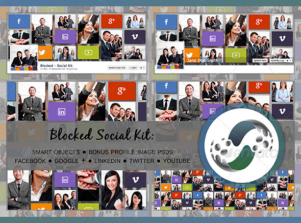 GraphicRiver Blocked Social Kit 6264202