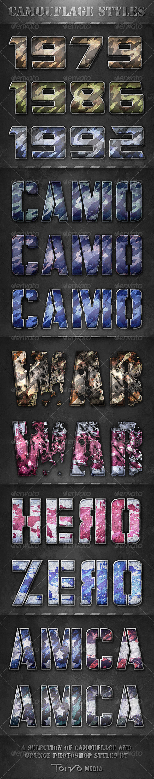 GraphicRiver Camouflage Text Styles 6264389