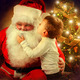 Santa Claus and Little Boy. Christmas Scene - PhotoDune Item for Sale