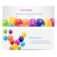 Color Glossy Balloons Card Background  - GraphicRiver Item for Sale