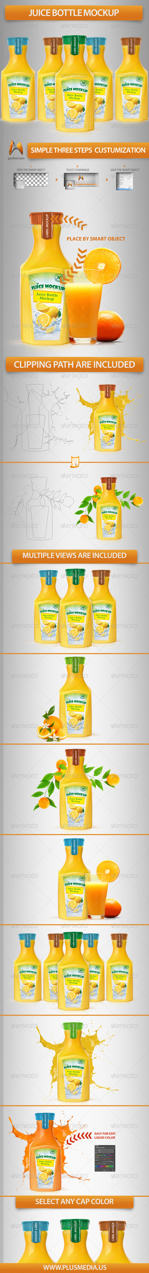 GraphicRiver Juice Bottle Mockup 6264955