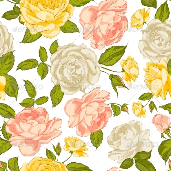 GraphicRiver Roses Seamless Background 6265343