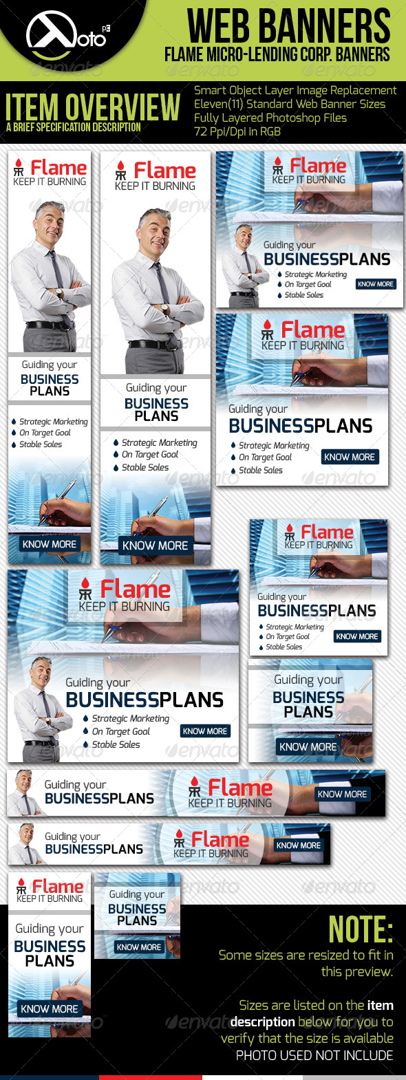 GraphicRiver Flame Micro Lending Web Banners 6265877