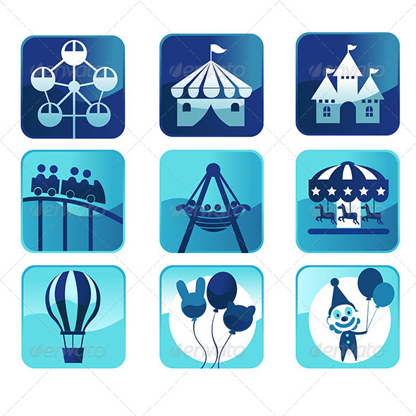 GraphicRiver Theme Park Icons 6266560