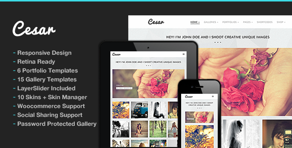 Cesar Responsive Portfolio Photography Theme - Photography Creative
