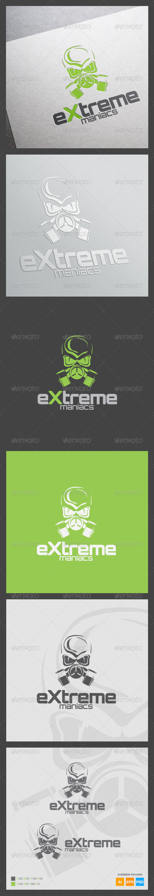 GraphicRiver Extreme Maniacs Logo Template 6266907