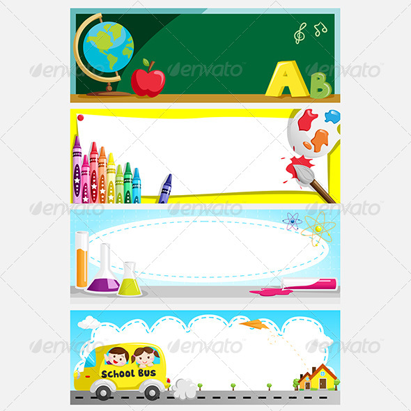 GraphicRiver Education Banners 6267293