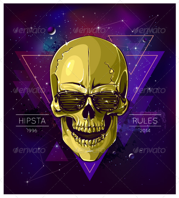 GraphicRiver Hipster Skull 6267549