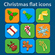 Flat Icons Set. Christmas and New Year - GraphicRiver Item for Sale