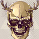 Hipster Gold Skull - GraphicRiver Item for Sale