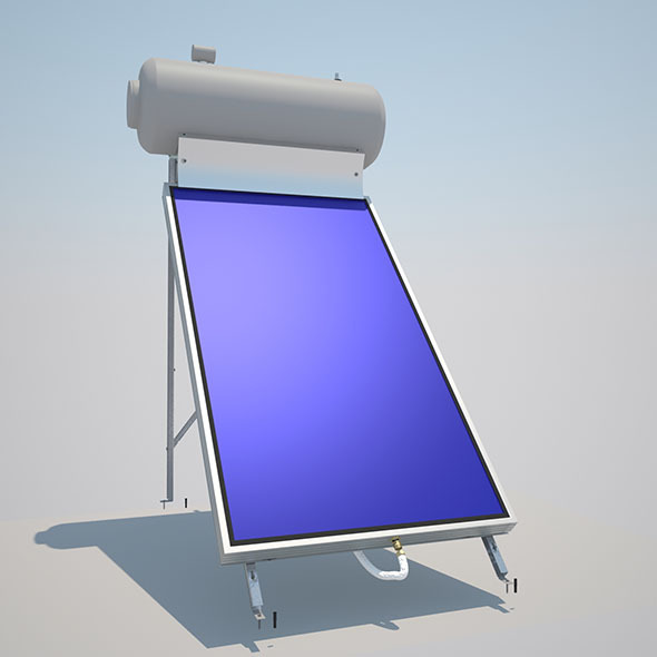 3DOcean Solar Collector with metal frame 6268408