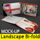 Landscape A4/A5 Bi-fold Catalog/Brochure Mock Up - GraphicRiver Item for Sale